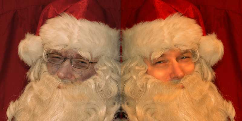 Santa before and after plastic surgery